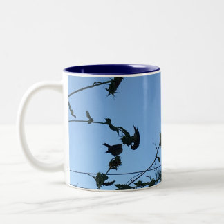 Goldfinch Silohette Two-Tone Coffee Mug