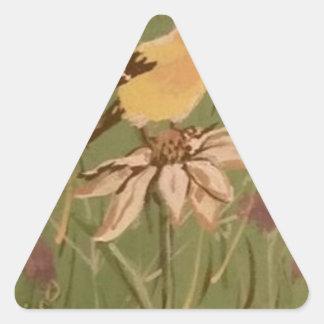 goldfinch triangle sticker