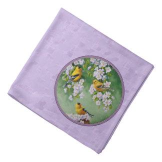 Goldfinch Trio & Apple Blossoms Purple Do-rags