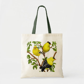 Goldfinches in Tree Branches Bag