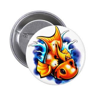 Goldfish 2 Inch Round Button