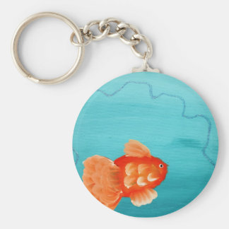 GOLDFISH A SWIMMING KEYCHAIN