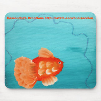 GOLDFISH A SWIMMING MOUSEPAD