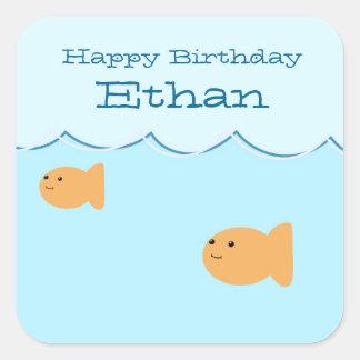 Goldfish Birthday Party Custom Stickers