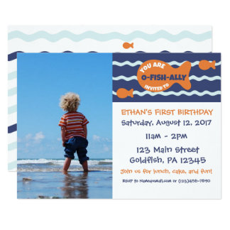 Goldfish Birthday Photo Party Invitation