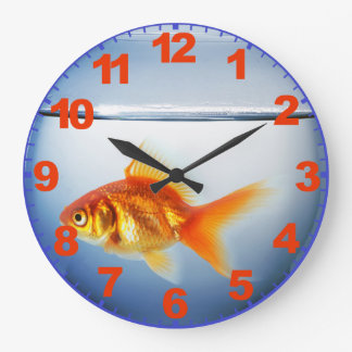 GoldFish Bowl Clock with Numbers