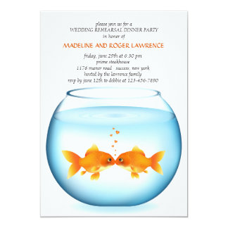 Goldfish Bowl Wedding Rehearsal Dinner Invitation
