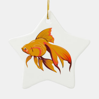 Goldfish Ceramic Star Ornament
