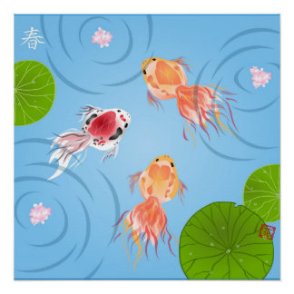 Goldfish Day Square Poster Perfect Poster