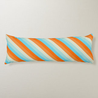 Goldfish Diagonal Striped Pattern Body Pillow