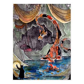 Goldfish Dragon's Lair Postcard