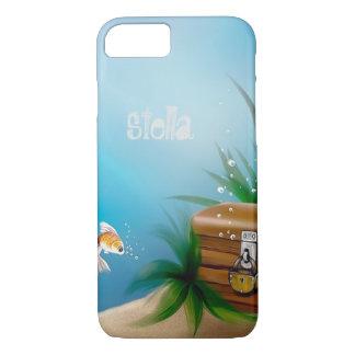 Goldfish Find Treasure in Ocean iPhone 7 Case