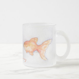 Goldfish Frosted Glass Coffee Mug