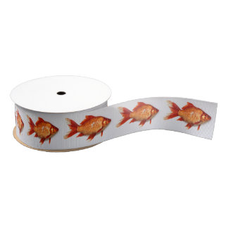 Goldfish Grosgrain Ribbon