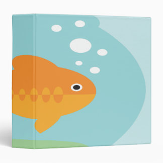 goldfish in fishbowl notebook 3 ring binder