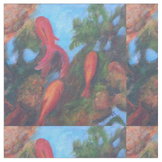 GOLDFISH IN THE POND FABRIC