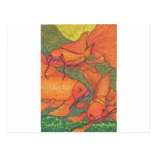 Goldfish - Koi Postcard