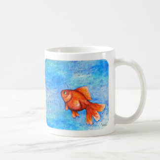 Goldfish Mug Red Goldfish Mug Cute Pet Goldfish