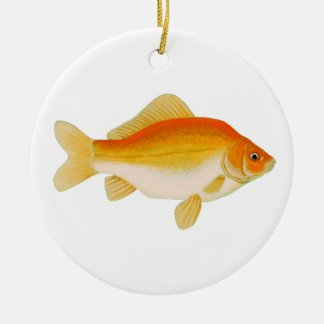 Goldfish Orange - Tangerine - Yellow Ceramic Ornament