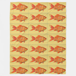Goldfish Painting Fleece Blanket