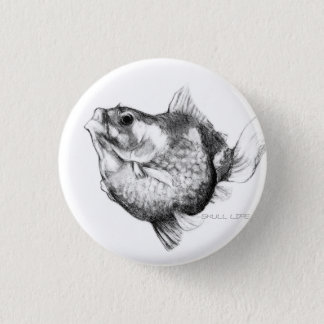 Goldfish ping pong pearl 1 inch round button