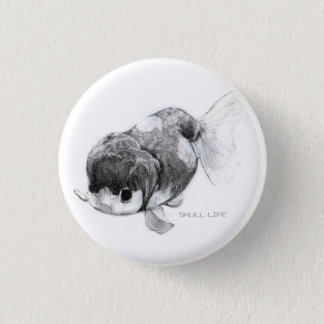 Goldfish run Chu 1 Inch Round Button