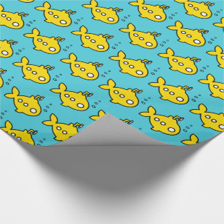Goldfish submarine wrapping paper