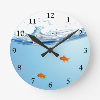 Goldfish under water aquarium clocks