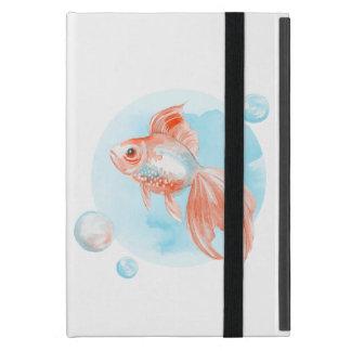 Goldfish. Watercolor Cover For iPad Mini