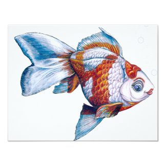 Goldfish with Bubbles Card