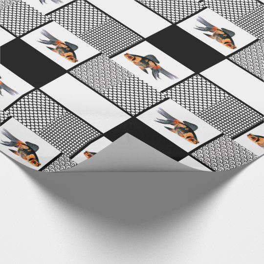 Goldfish with Solids and Patterns in Black