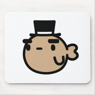 Goldfish With Top Hat Mouse Pad