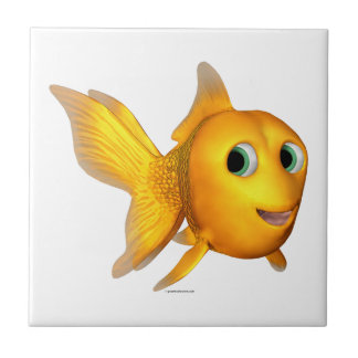 Goldie the Toon Goldfish Tile