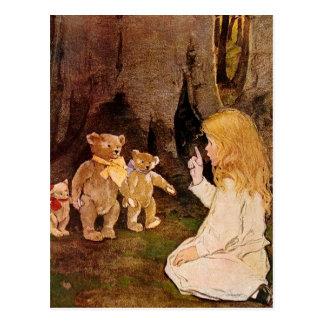 """Goldilocks and the Three Bears"" Postcard"