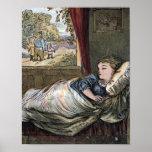 Goldilocks Asleep in Little Bear's Bed Poster