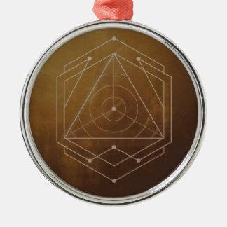 Goldish Silver-Colored Round Ornament