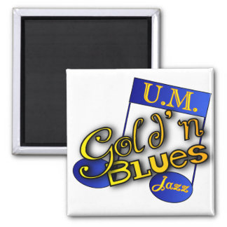 gold'n blues jazz logo magnet
