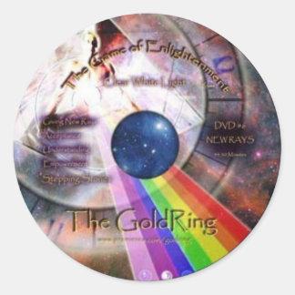 GoldRing Game of Enlightenment Round Sticker