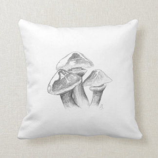 Goldröhrling mushroom design throw pillow