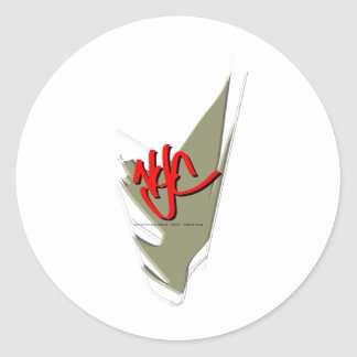 Goldshoepolish - NYC - Clothing Round Stickers