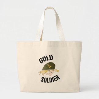 goldsoldier_icon_1B.ai Large Tote Bag
