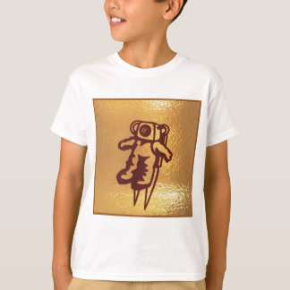 GoldStar, Star, Orbit, Robot : ASTRONAUT Gozzlo T-Shirt