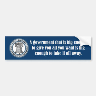 Goldwater Quote (Big Government) Bumper Sticker