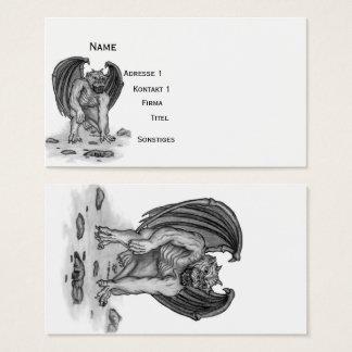 Golem Gargoyle , Black and White design Business Card