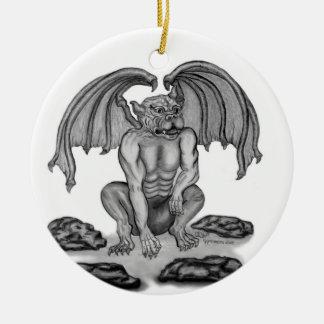 GOLEM Gargoyle Round Ceramic Ornament