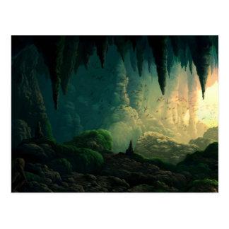 Golem in Cave Postcard