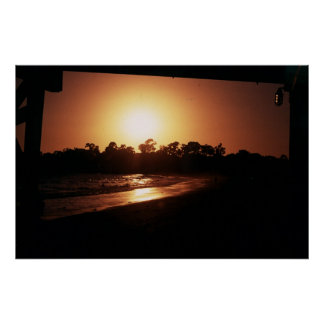 goleta beach sunset, santa barbara ca poster