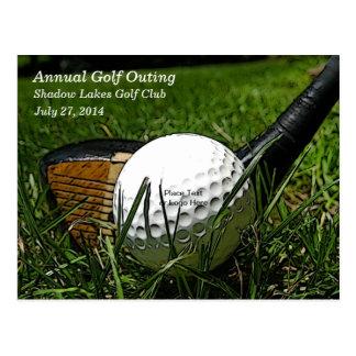 Golf 101 Invitation Postcard
