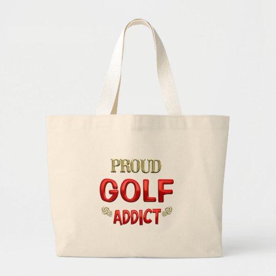 Golf Addict Large Tote Bag