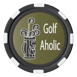 Golf Aholic Golfer Poker Chips